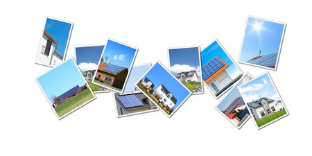stock clip art icon: A collage with some of my solar themed images