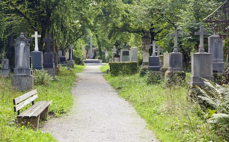 An image of the munich south cemetery Stock Photo - 7544160