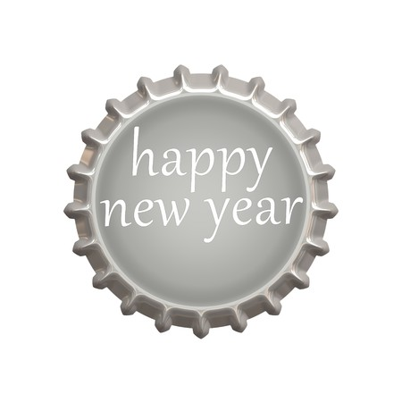 An image of a nice new year bottle cap photo