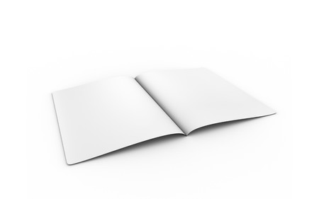 open spaces: An image of a book paper page Stock Photo