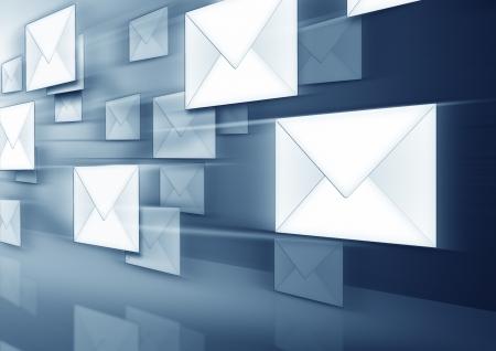 Une image de certaines enveloppes flying  Banque d'images