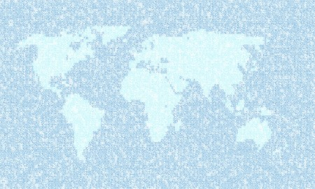 An illustration of a blue earth map numbers Stock Illustration - 7614683