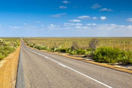 An image of a desert road in Australia photo