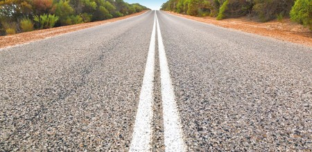 An image of an Australian desert road photo