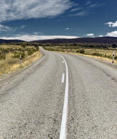 australie landschap: Een afbeelding van een weg in Australië Stockfoto
