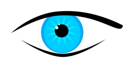 globo ocular: Una imagen de un hermoso ojo azul  Foto de archivo