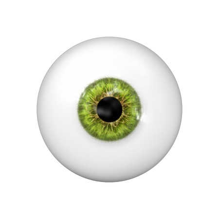 eyes wide: a beautiful green eye ball Stock Photo