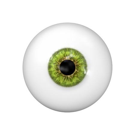 una bola de hermosos ojos verdes  Foto de archivo