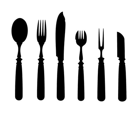 eating utensil: An image of an old vintage cutlery
