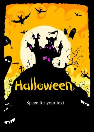 illustration Halloween background for party invitation illustration