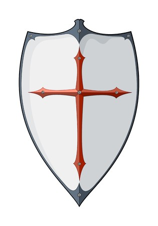 silver cross: An image of an old vintage shield