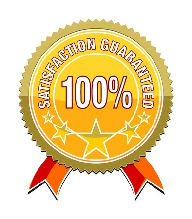 a satisfaction guaranteed sticker for your website photo