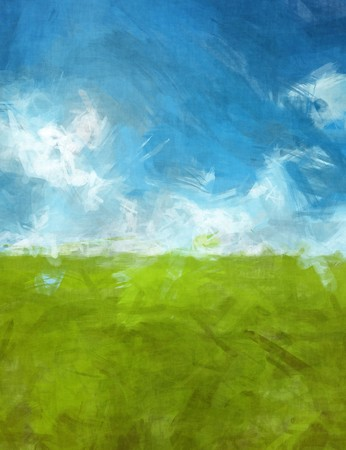 watercolor painting: An image of a blue green abtsract landscape background