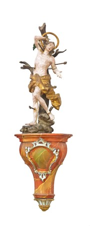 An image of a beautiful Sebastian sculpture in a church in bavaria germany