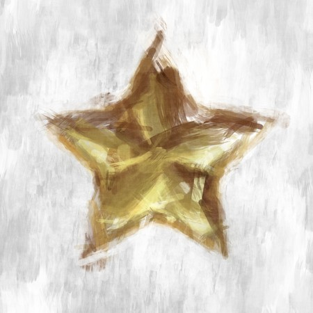 a nice abstract grunge golden christmas star photo
