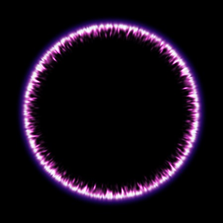 ring of fire: An image of a purple ring of fire
