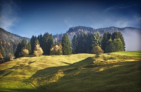 An image of a beautiful landscape with fog in bavaria germany Stock Photo - 7957968