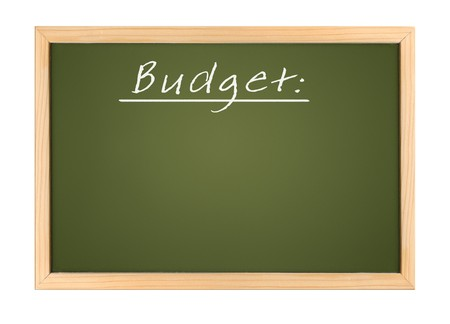 An illustration of a chalk board budget Stock Illustration - 7958358