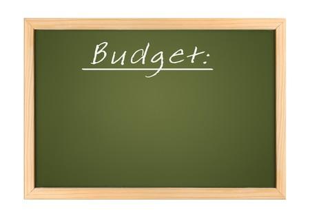 An illustration of a chalk board budget Stock Illustration - 7958358