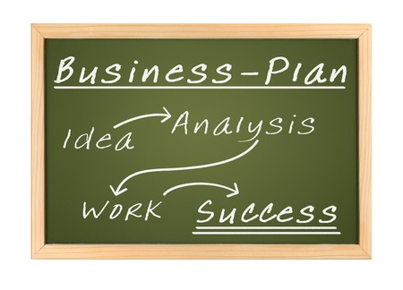An illustration of a chalk board Business Plan illustration