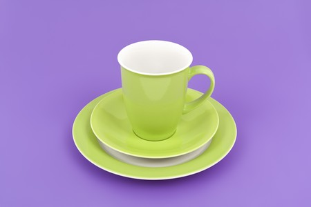 An image of a nice green coffee cup Stock Photo - 7958372