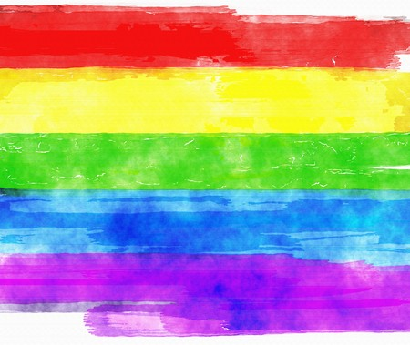 gay flag: An image of a nice rainbow colors background Stock Photo
