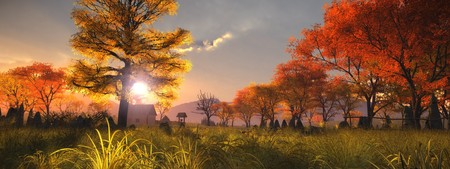An image of a nice autumn landscape Stock Photo