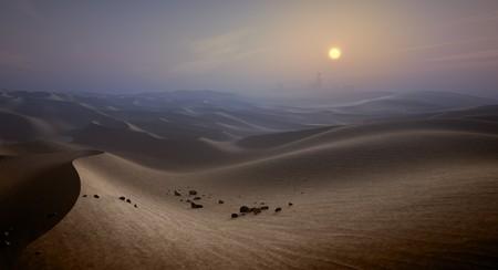 An image of a nice desert sunset photo