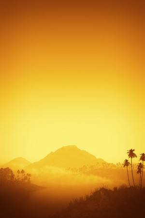 cloudless: An image of a nice orange landscape Stock Photo