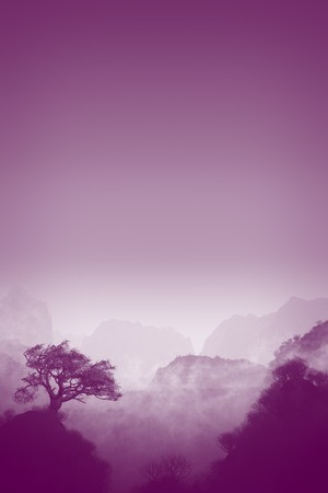 An image of a nice purple landscape photo