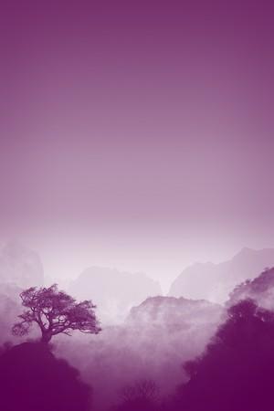 An image of a nice purple landscape Stock Photo - 8077819
