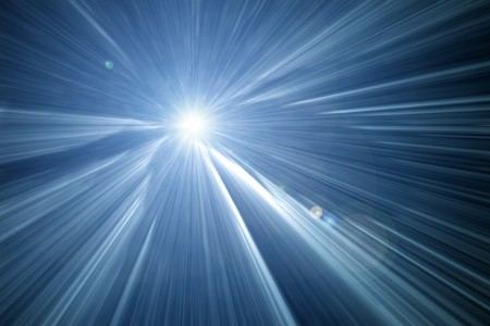 warp speed: An image of a nice zoom into the light background