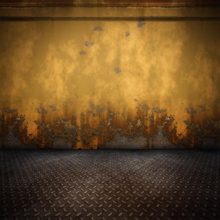 oxidado: Una imagen de un fondo de bonito piso de acero