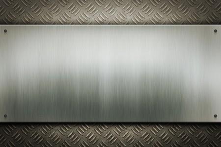Een afbeelding van een versleten metalen plaat achtergrond  Stockfoto