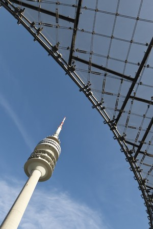 An image of the huge Munich tv tower