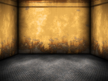 An image of a nice yellow steel room background photo