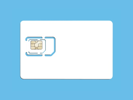 An image of a smart card for cell phones Stock Photo - 8328716