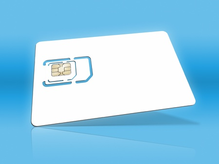 An image of a smart card for cell phones Stock Photo - 8328720