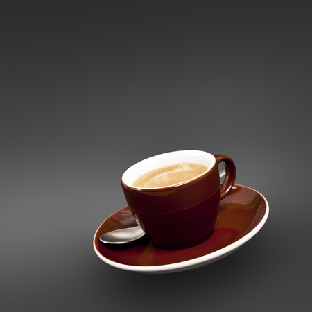 A cup of coffee with on black background photo