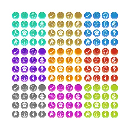 A button set for your website in different colors photo