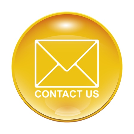 An image of a yellow contact us icon Stock Photo - 8554678