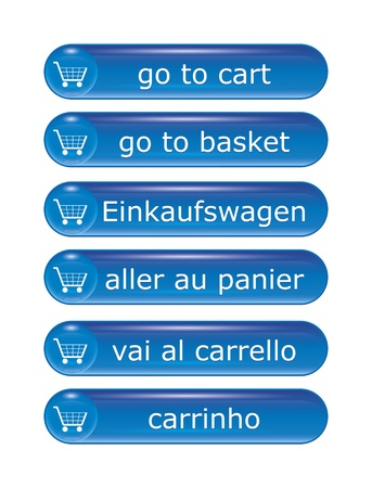 An image of shopping icons in different languages photo