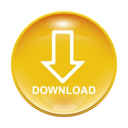An image of a yellow download icon Stock Photo - 8554686