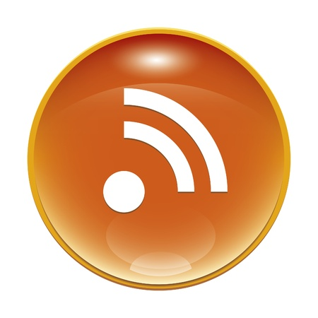 rss feed icon: An image of a orange rss feed icon