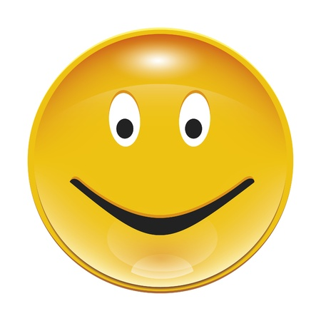 An image of nice yellow smiley button photo