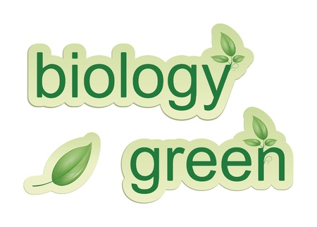 An image of some web icons green biology and a leaf photo