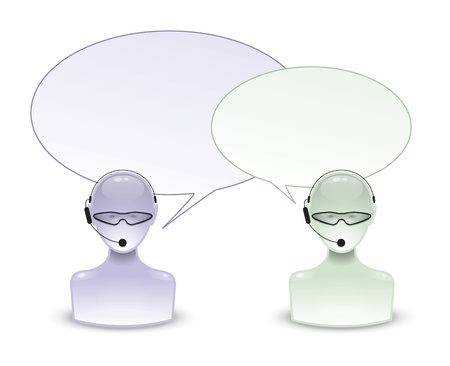 An image of two talking people icon photo