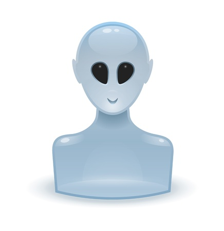 An image of an glossy web icon alien Stock Photo - 8573741