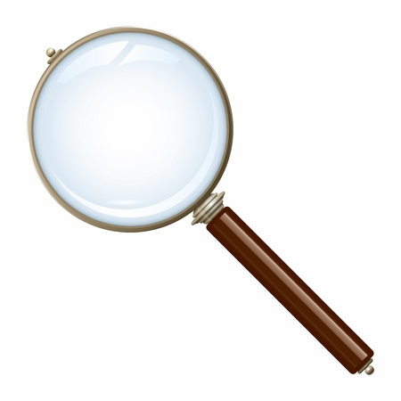 An image of a nice old magnifying glass photo