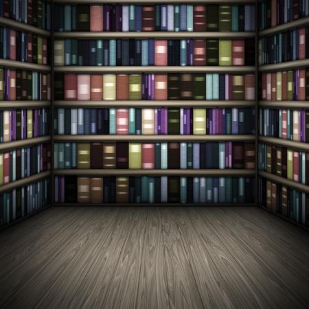 Ein Bild einem netten Bibliothek-Hintergrund Standard-Bild - 8693962